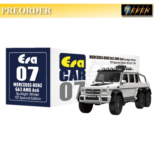 PREORDER: Era Car 1/64 Mercedes-Benz - G63 AMG 6X6 1st Special Ed - Spotlight White: Diecast Model Car